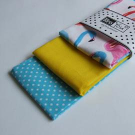Flamingós textilzsebkendő szett
